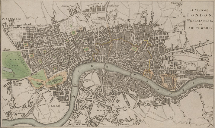 A plan of London, Westminster and Southwark (1807)